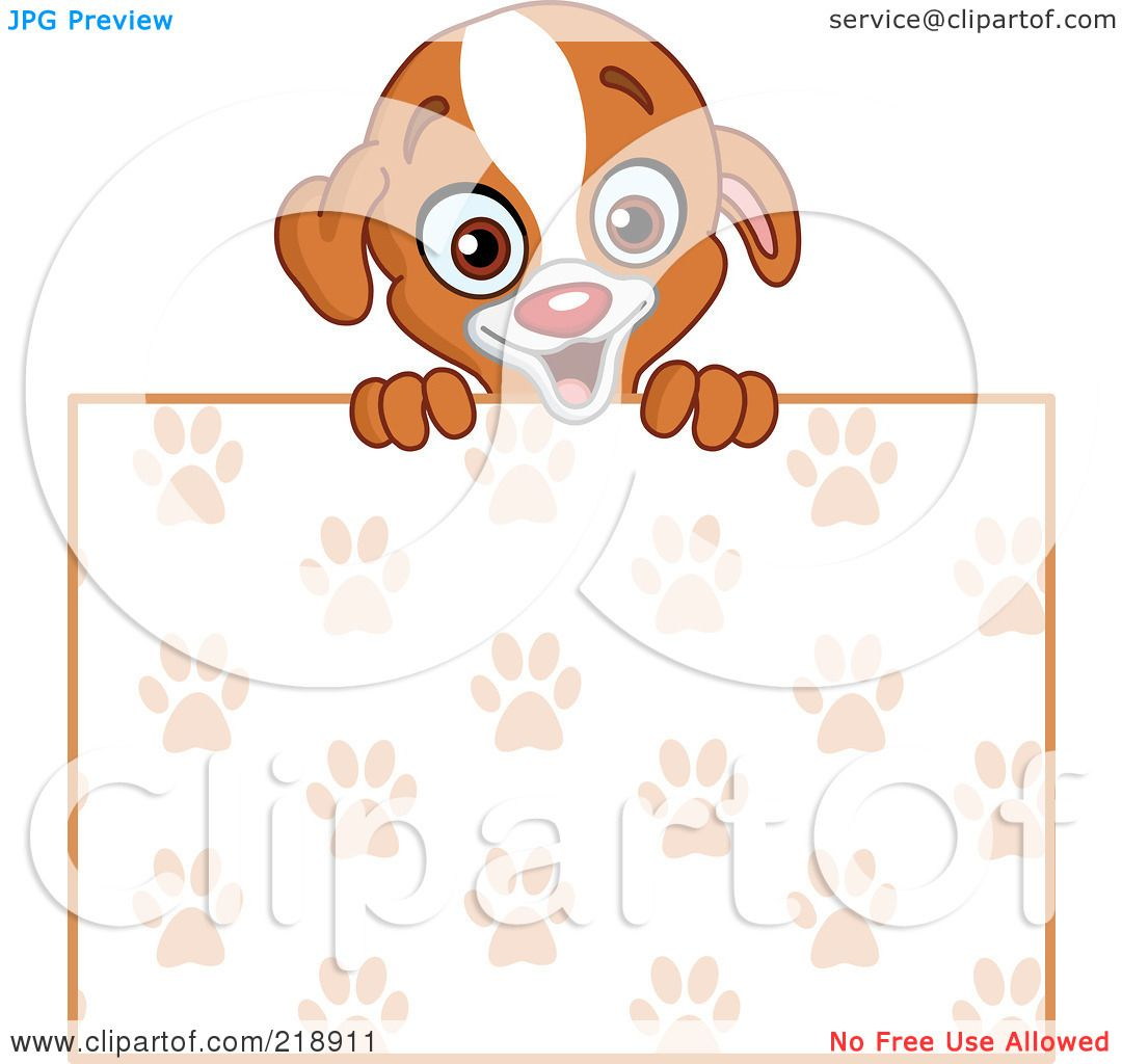 Royalty-Free (RF) Clipart Illustration of a Cute Puppy