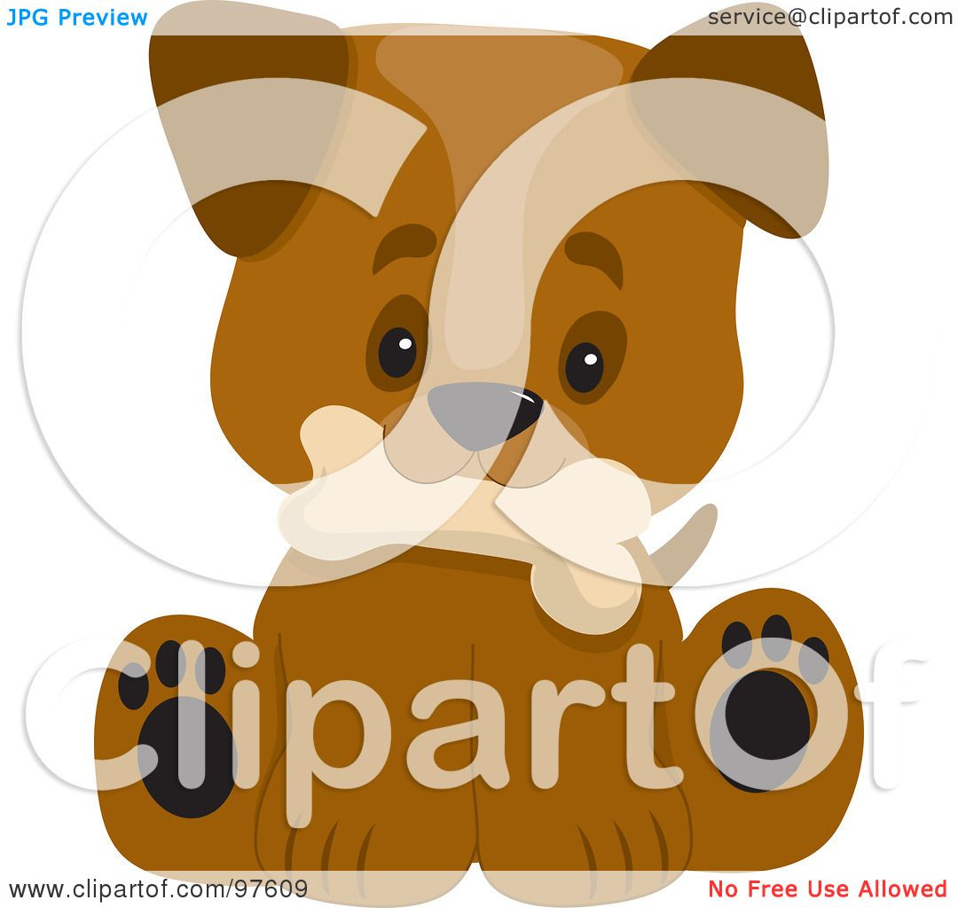 Royalty-Free (RF) Clipart Illustration of a Cute Puppy With A Big ...