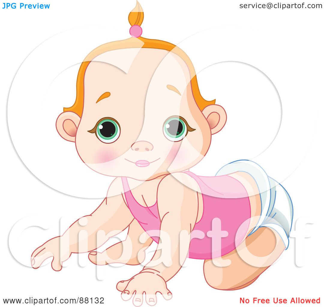 royalty free  rf  clipart illustration of a cute red baby girl clipart free download baby girl clipart free printable