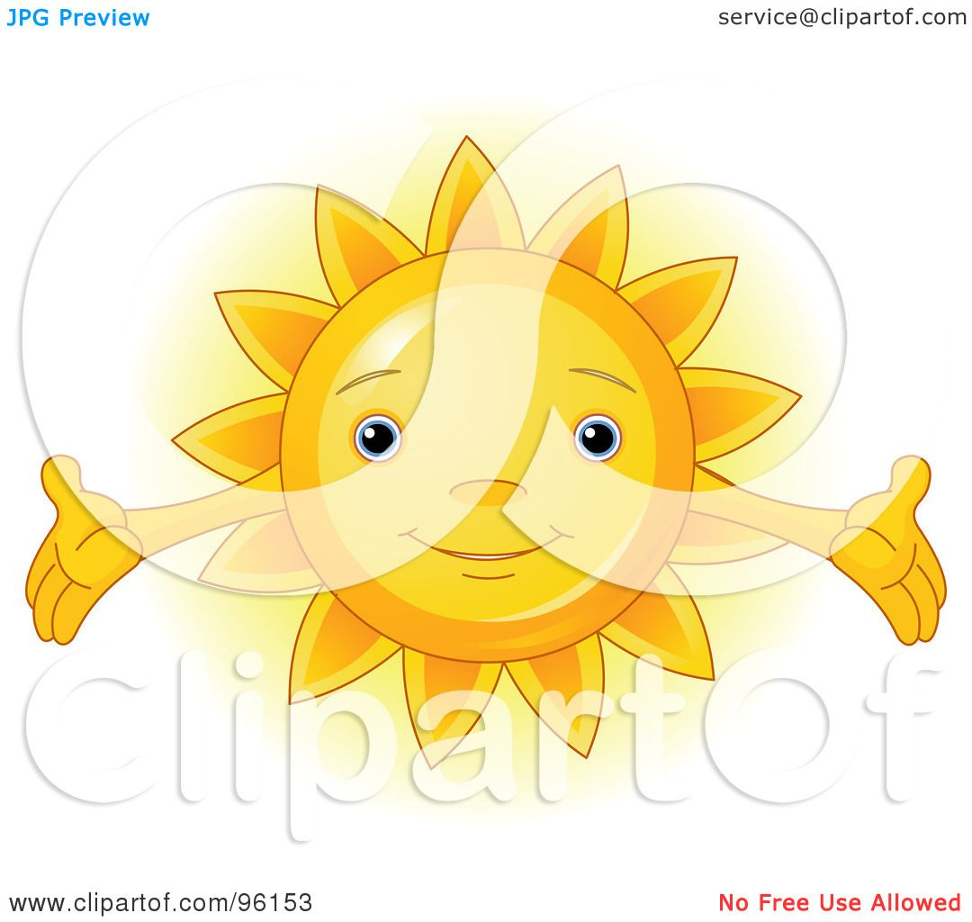 Royalty Free Rf Clipart Illustration Of A Cute Sun Face
