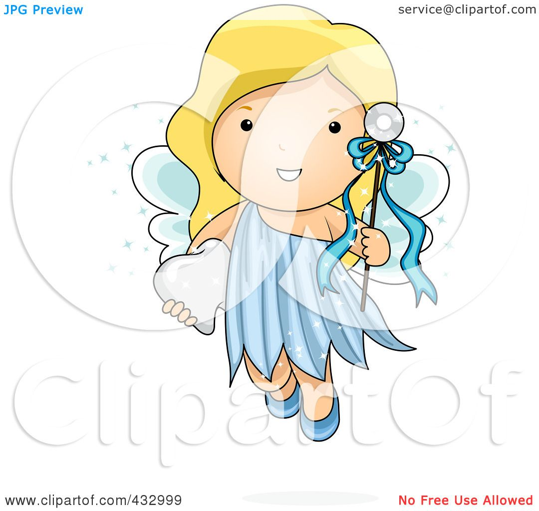 Royalty-Free (RF) Clipart Illustration of a Cute Tooth ...