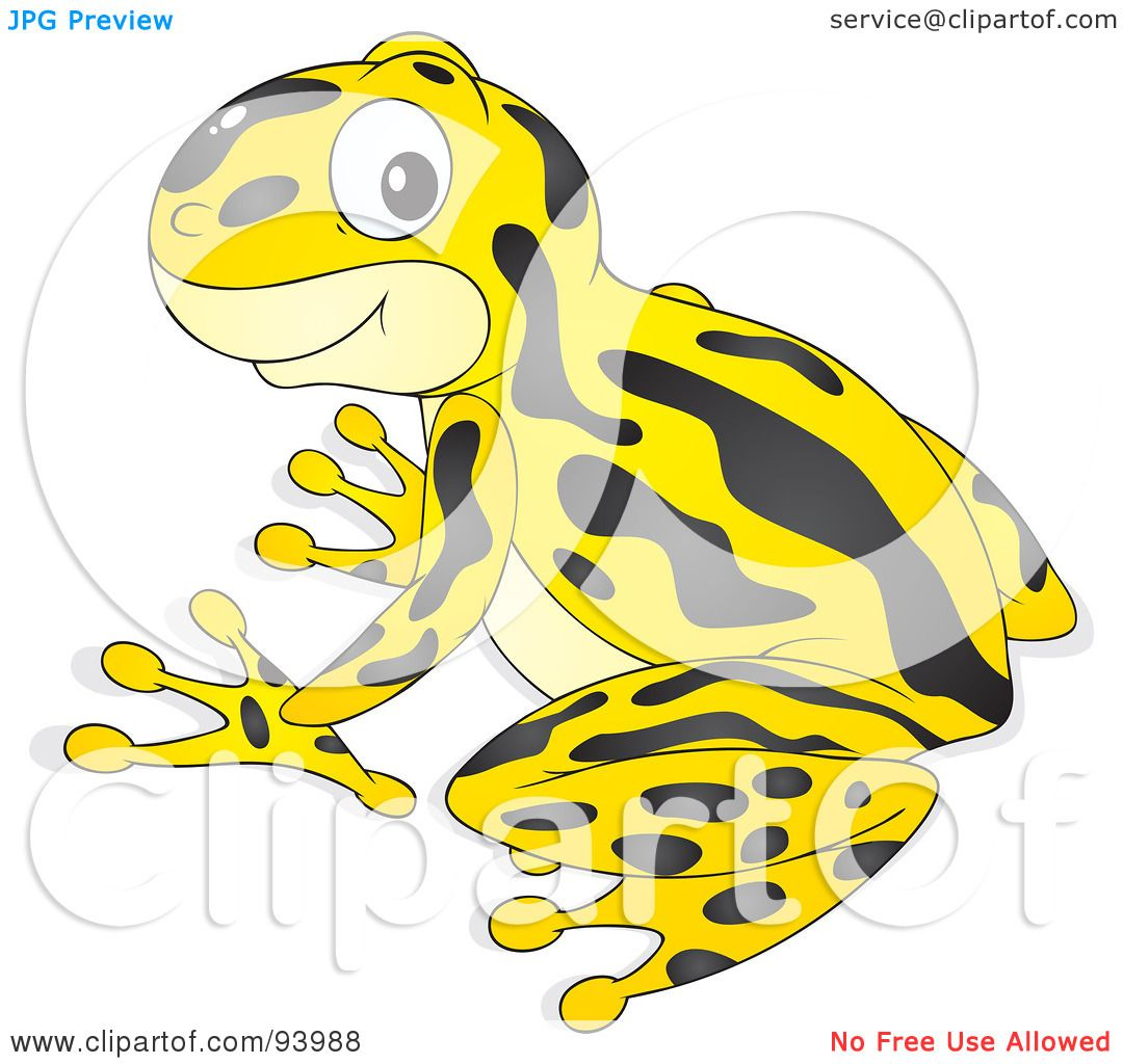 Royalty-Free (RF) Clipart Illustration of a Cute Yellow Poison Dart ...