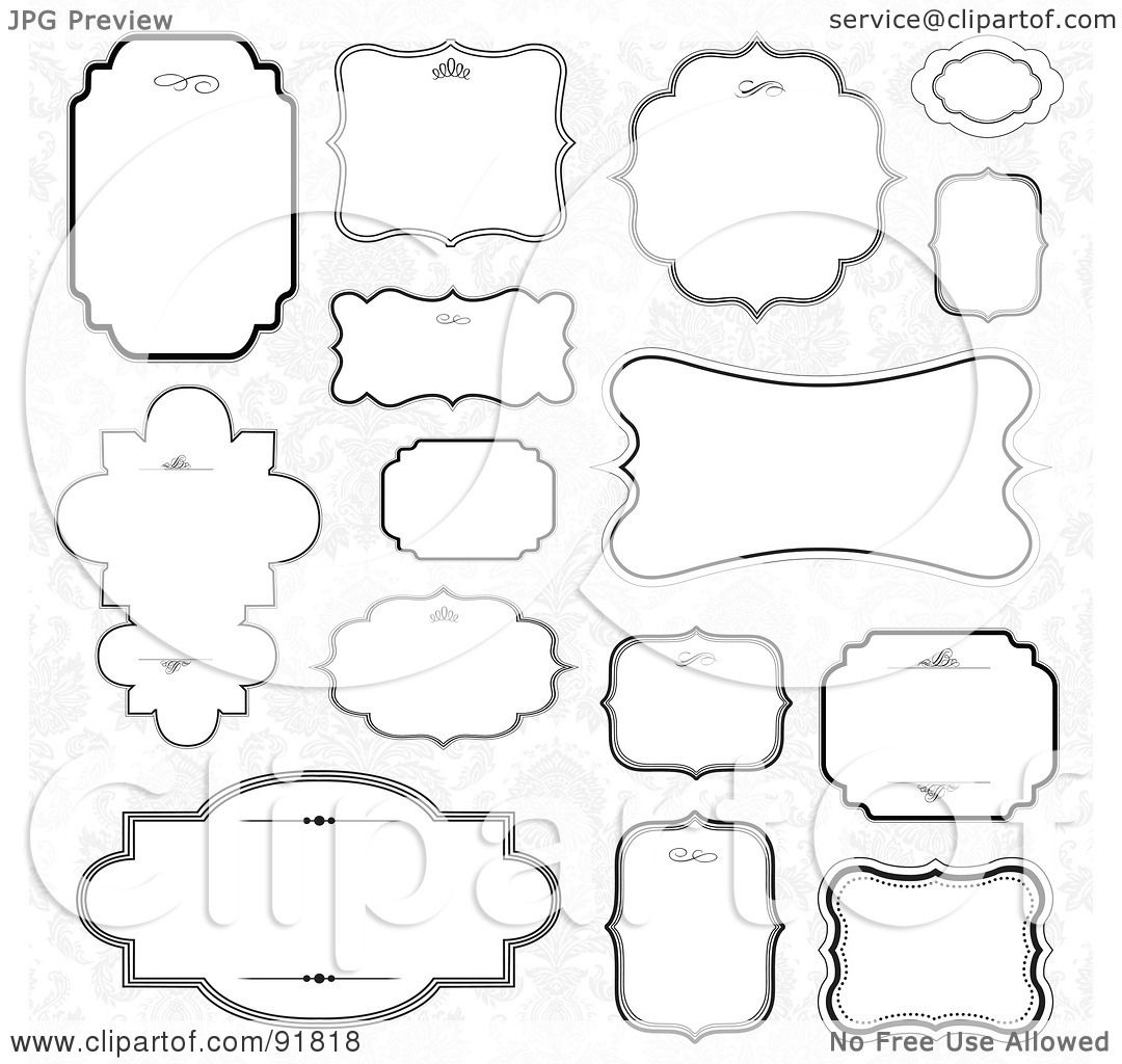 Clipart Text Frames Royalty-free (rf) clipart