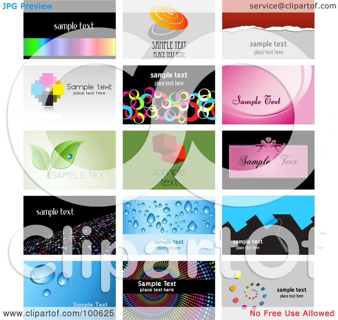 Royalty free rf clipart illustration of a digital collage of 15 royalty free rf clipart illustration of a digital collage of 15 business card template designs by kj pargeter colourmoves
