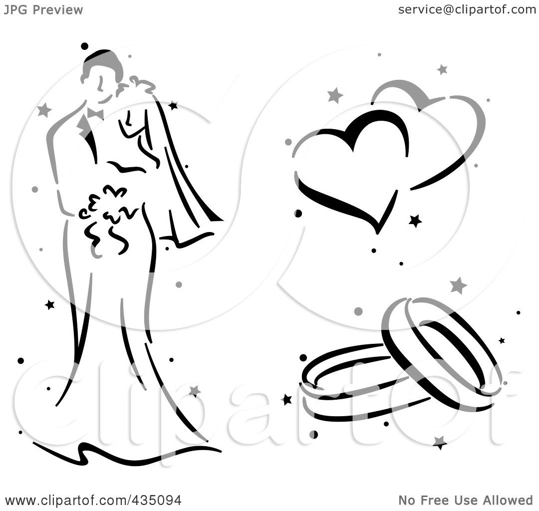 Royalty Free RF Clipart Illustration Of A Digital Collage Of A Black And White Stenciled