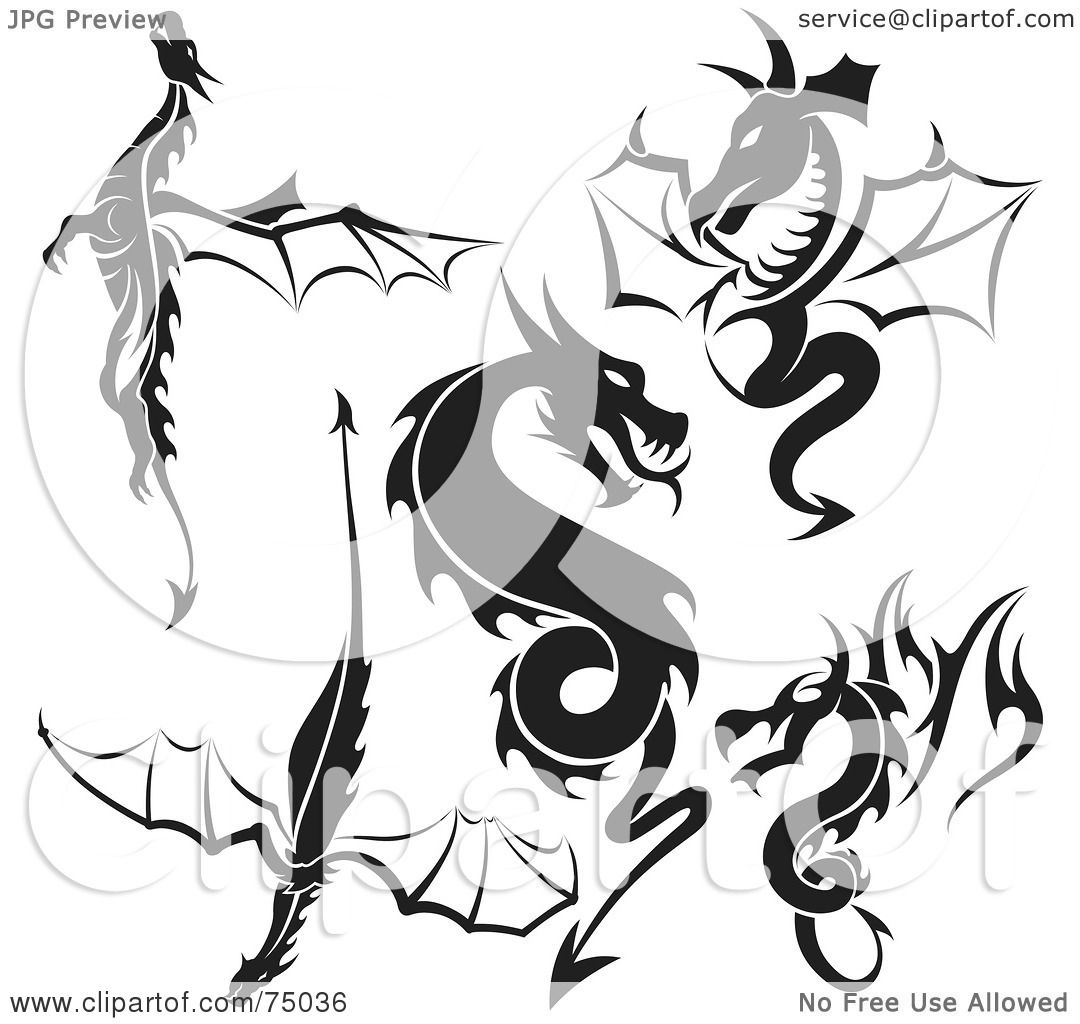 Tattoo Designs Clipart: Royalty-Free (RF) Clipart Illustration Of A Digital