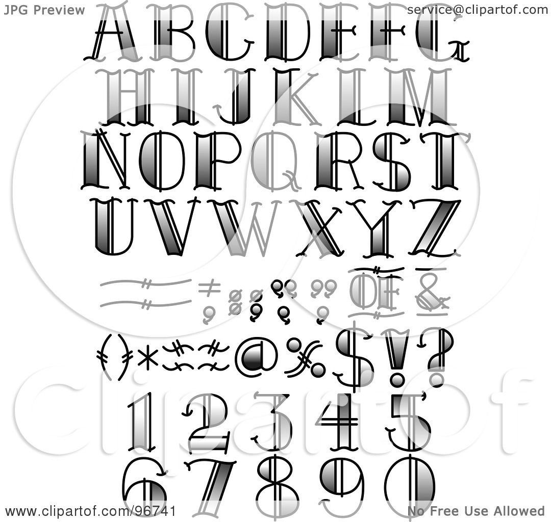 tattoo letter symbols digital collage of black and white tattoo styled numbers letters and symbols