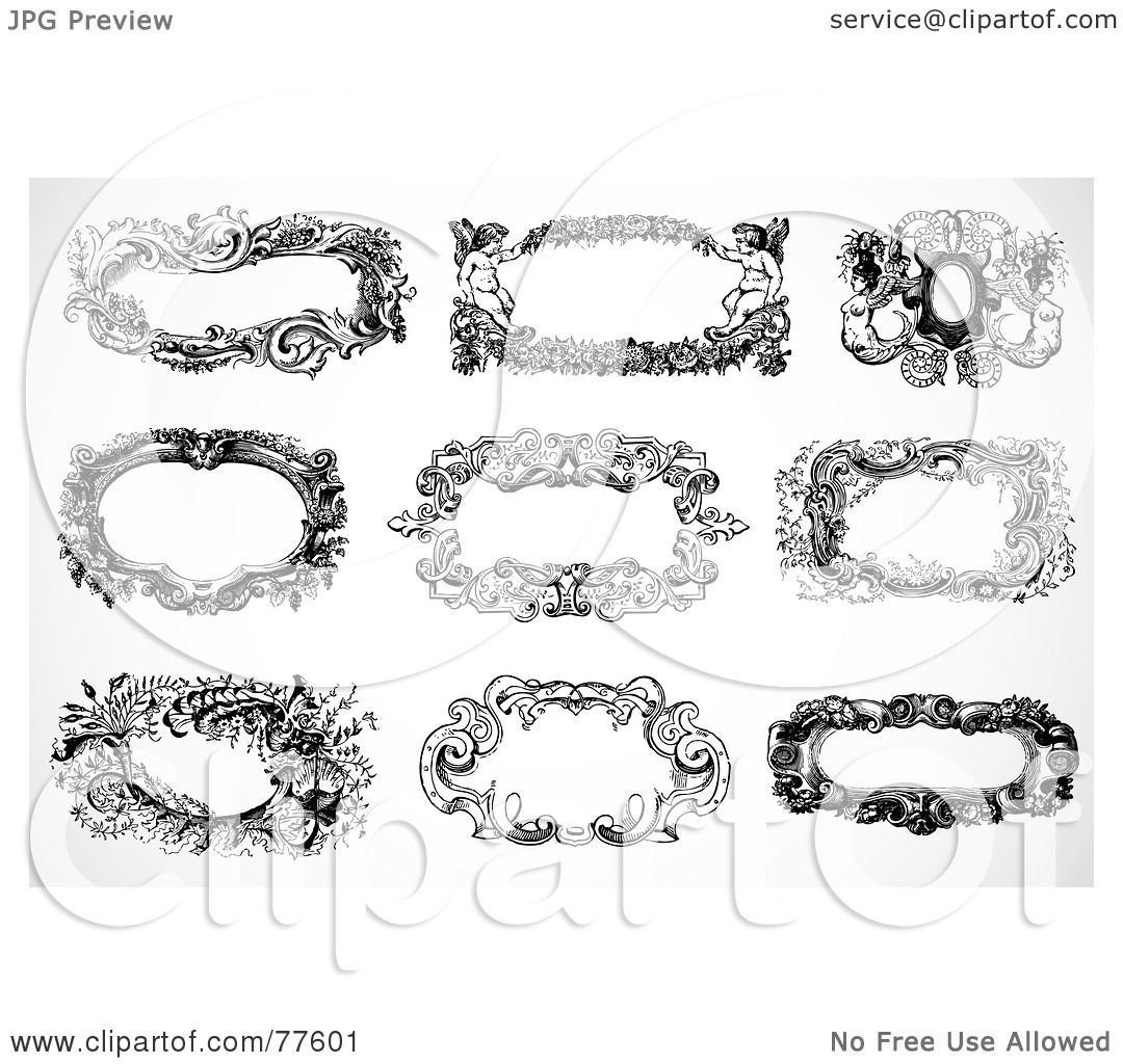 Royalty-Free (RF) Clipart Illustration of a Digital Collage Of Black ...