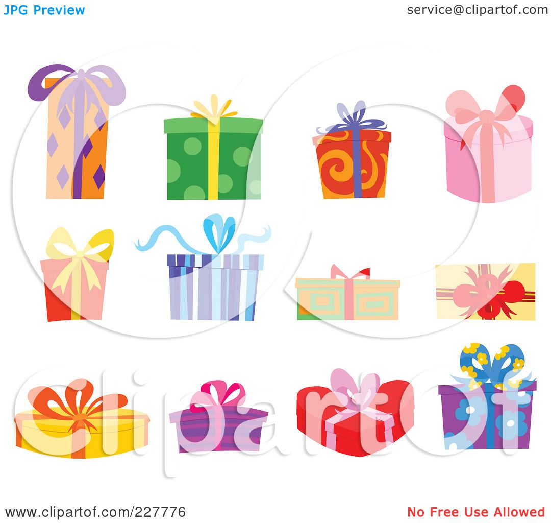 Birthday Present Box Clipart Royalty-free (rf) clipart