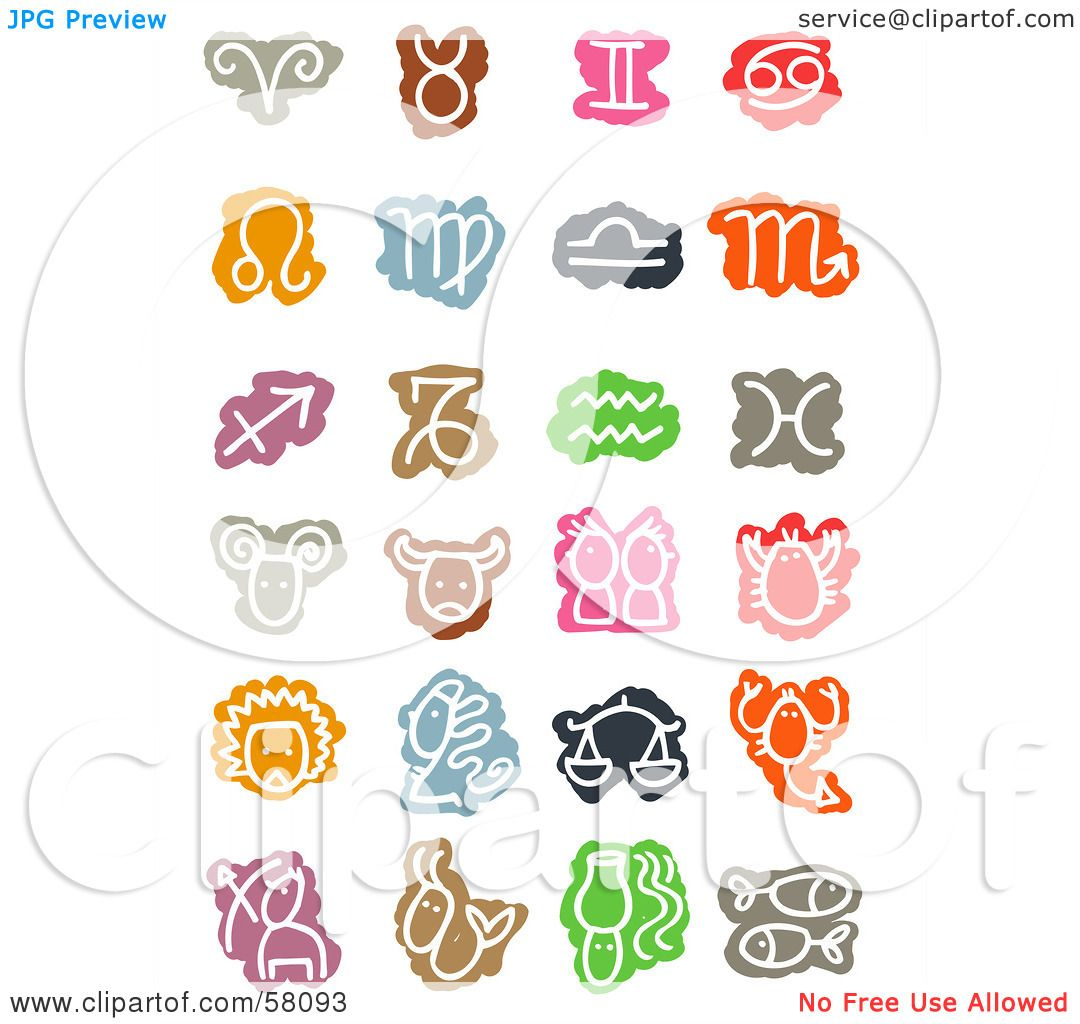 Royalty free rf clipart illustration of a digital collage of royalty free rf clipart illustration of a digital collage of colorful zodiac signs and symbols by nl shop buycottarizona