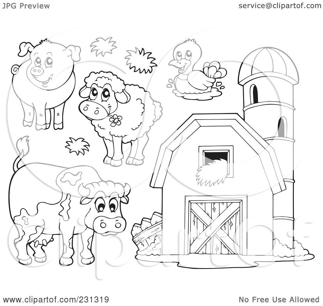 Shed work free barn building design software for Barn animals coloring pages