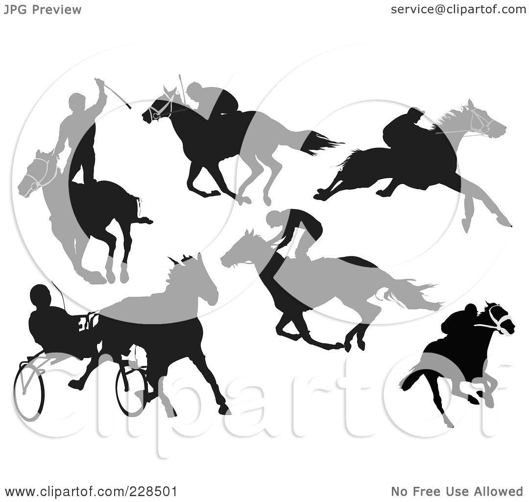 Eventing Horse Silhouette Eventing Horse Silhouette