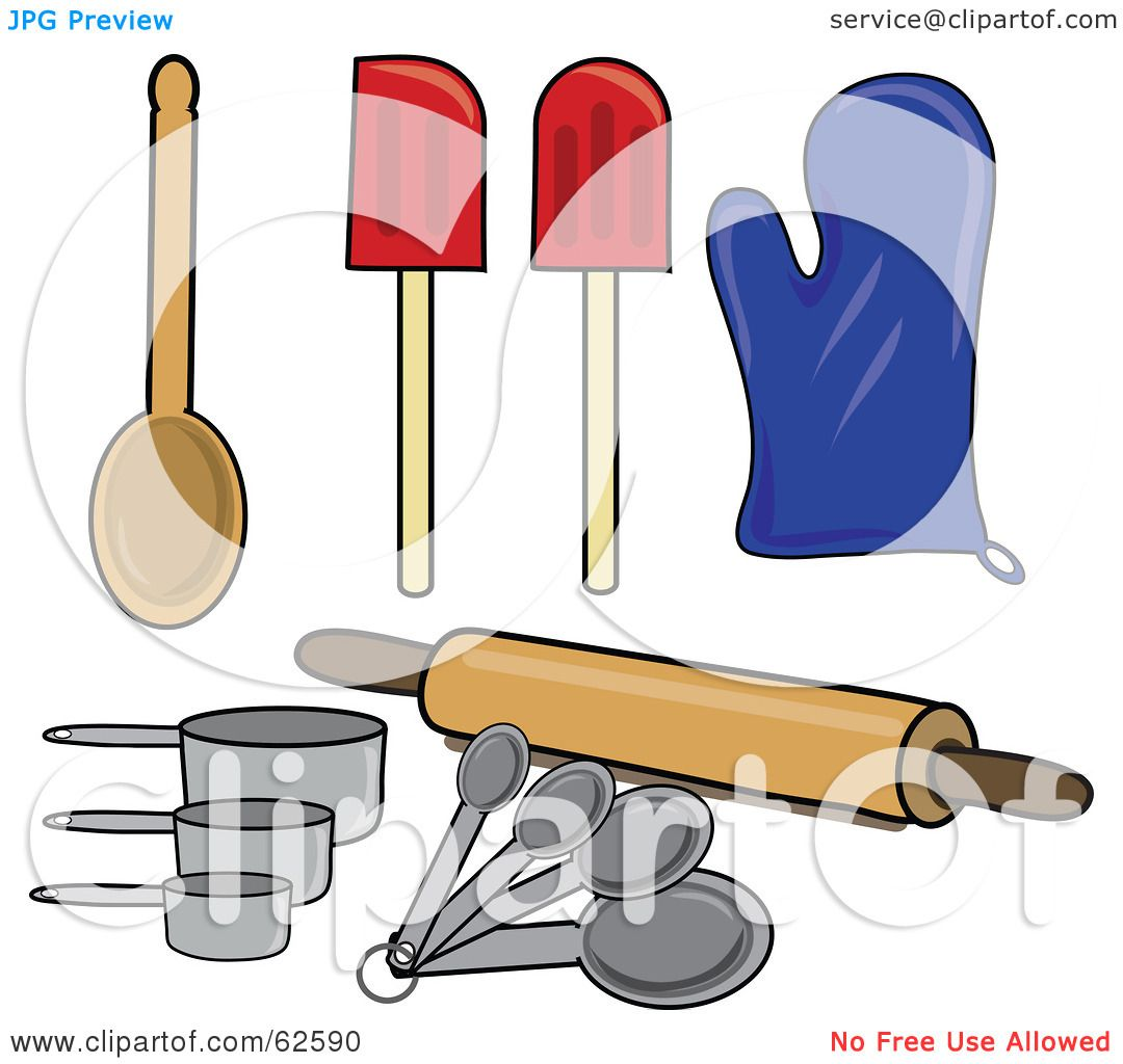 Free coloring pages kitchen utensils -  Coloring Pages Of Measuring Spoons Free