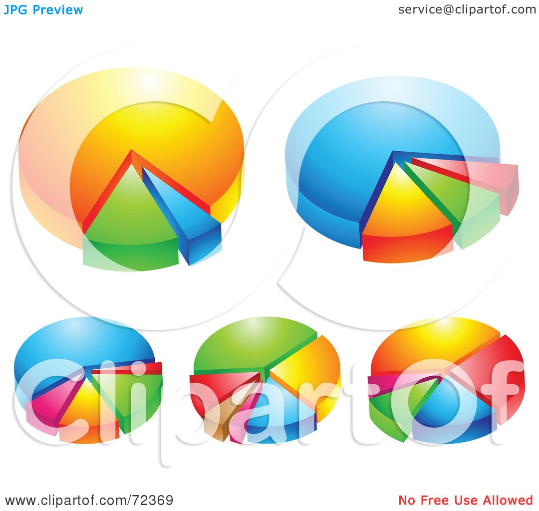 Royalty free rf clipart illustration of a digital collage of royalty free rf clipart illustration of a digital collage of shiny 3d pie charts by cidepix nvjuhfo Choice Image