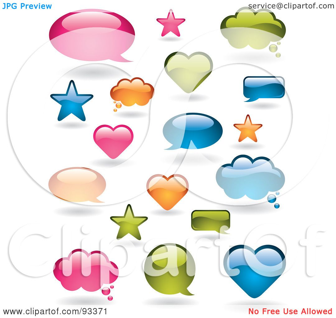 Royalty Free RF Clipart Illustration Of A Digital Collage Shiny Pink Orange Blue And