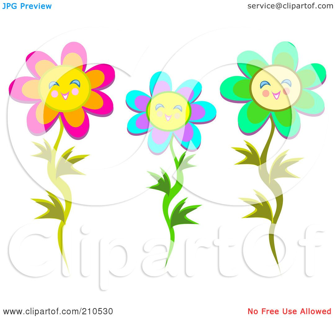 Happy Flower Clip Art Royalty-free (rf) clipart