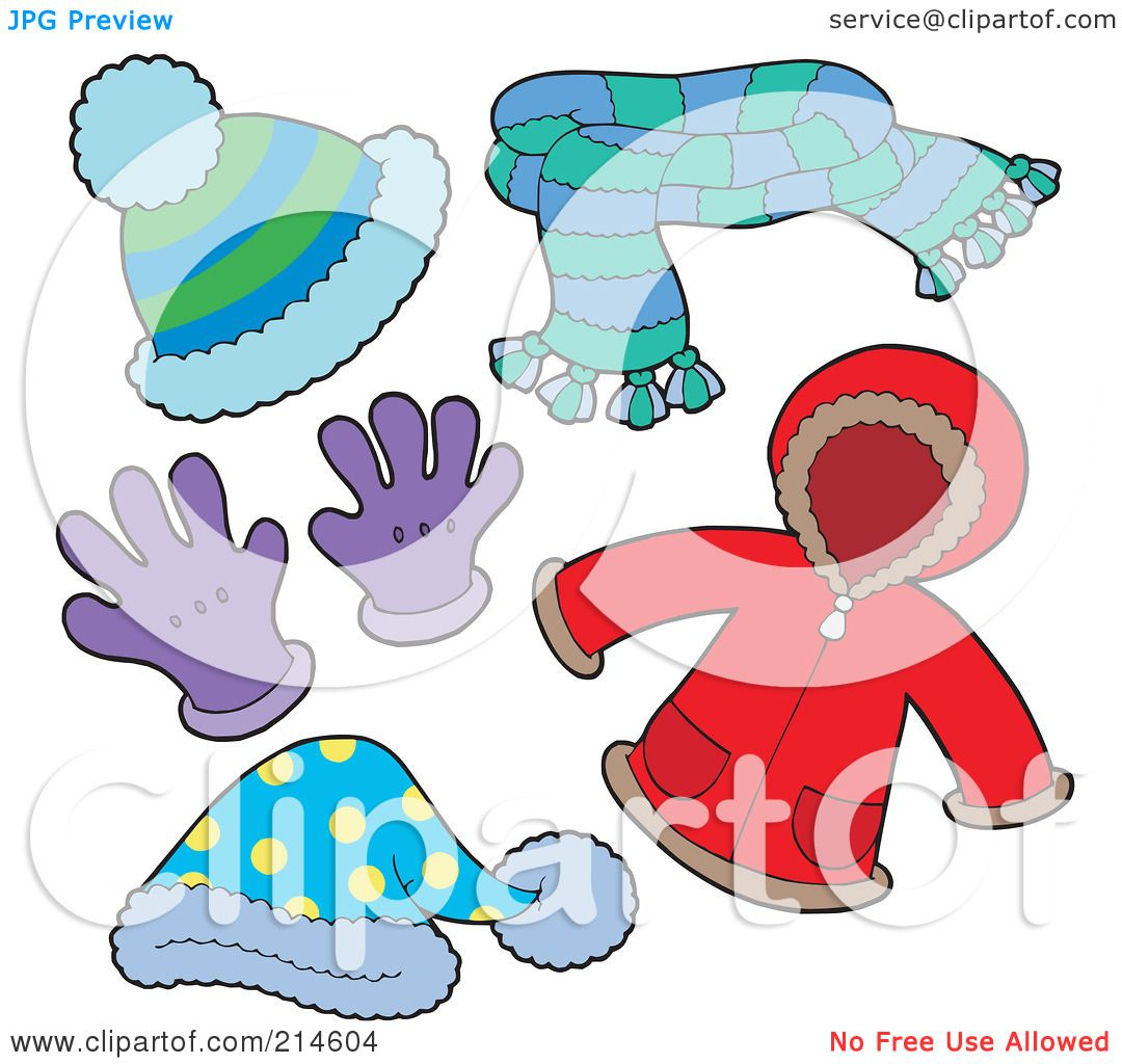 free clipart of winter clothing - photo #34