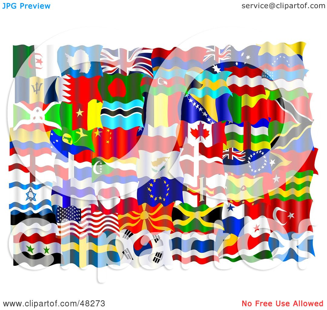 Flags Of The World Border Clipart Montage of world flags by