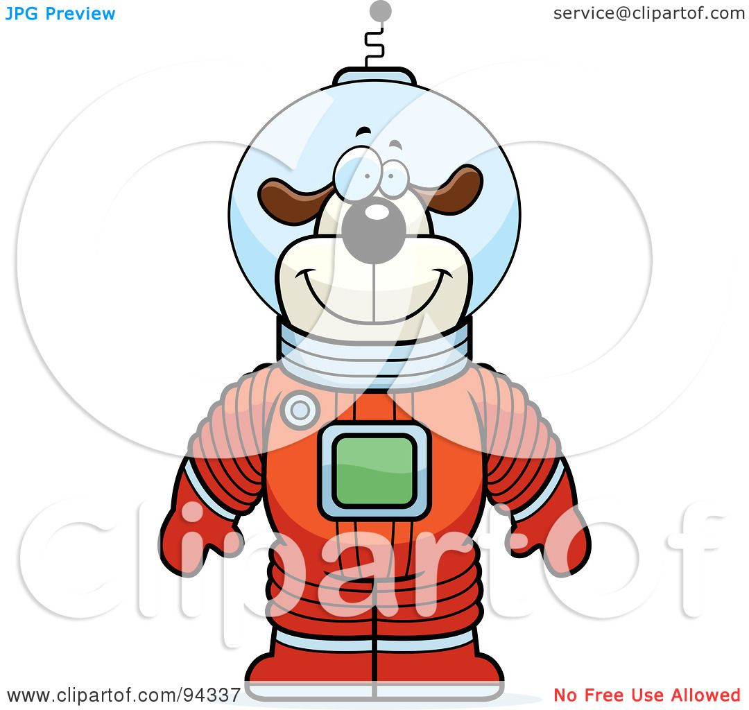 royalty free rf clipart illustration of a dog astronaut in a red rh clipartof com free clipart of astronaut Space Clip Art