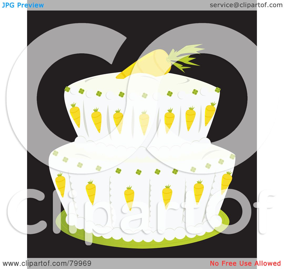 Royalty-Free (RF) Clipart Illustration of a Double Tiered ...