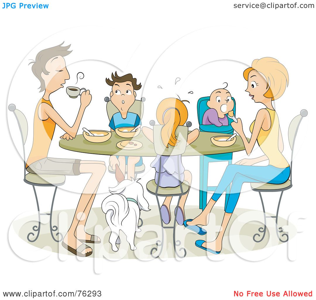 Royalty-Free (RF) Clipart Illustration of a Family Of Five ...