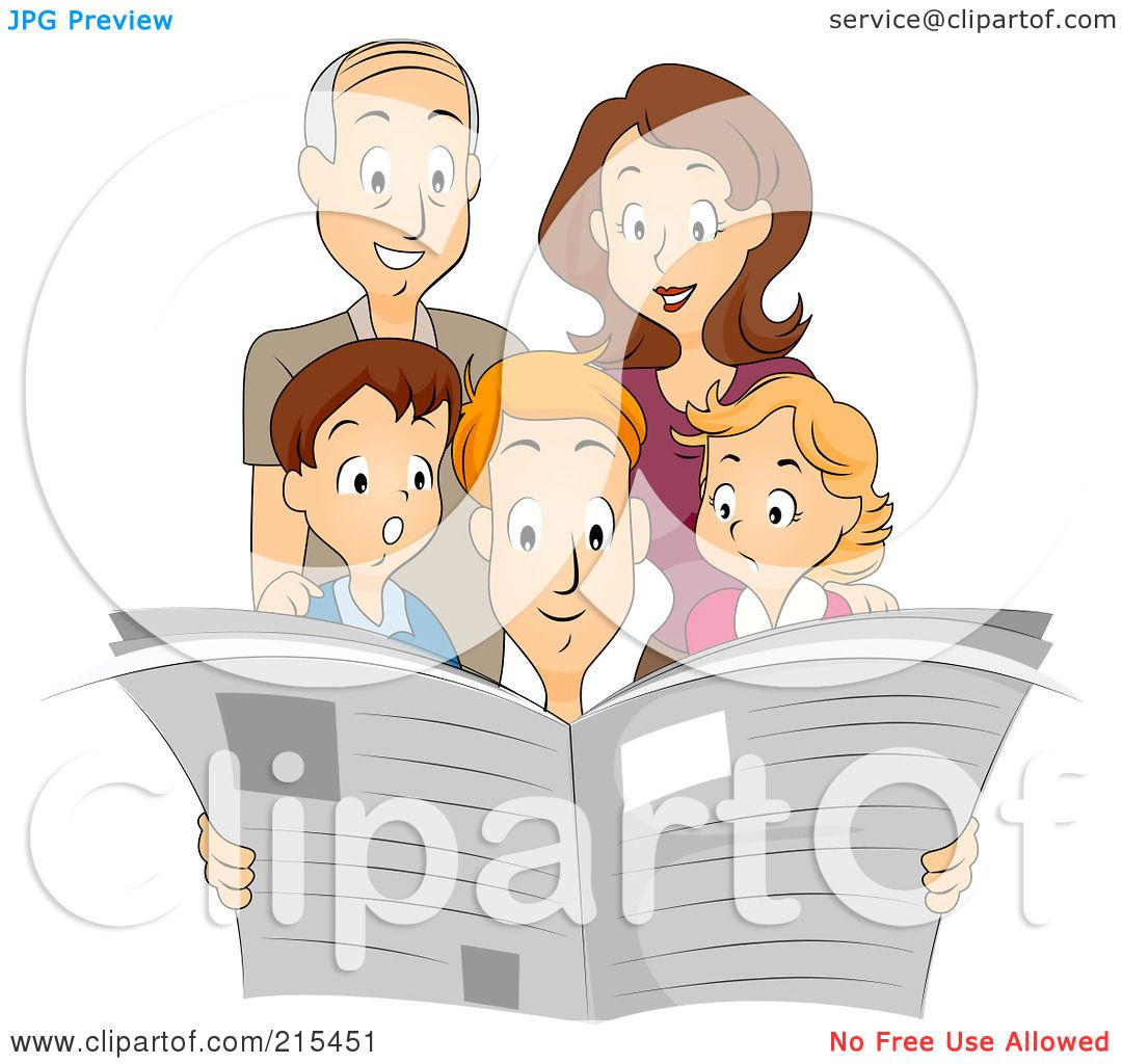 clipart family reading together - photo #35