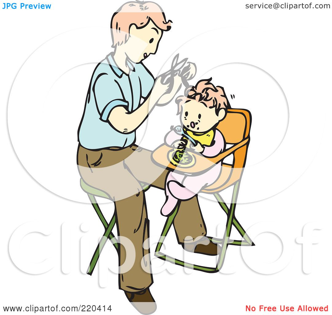 Royalty-Free (RF) Clipart Illustration of a Father Giving His Baby ...