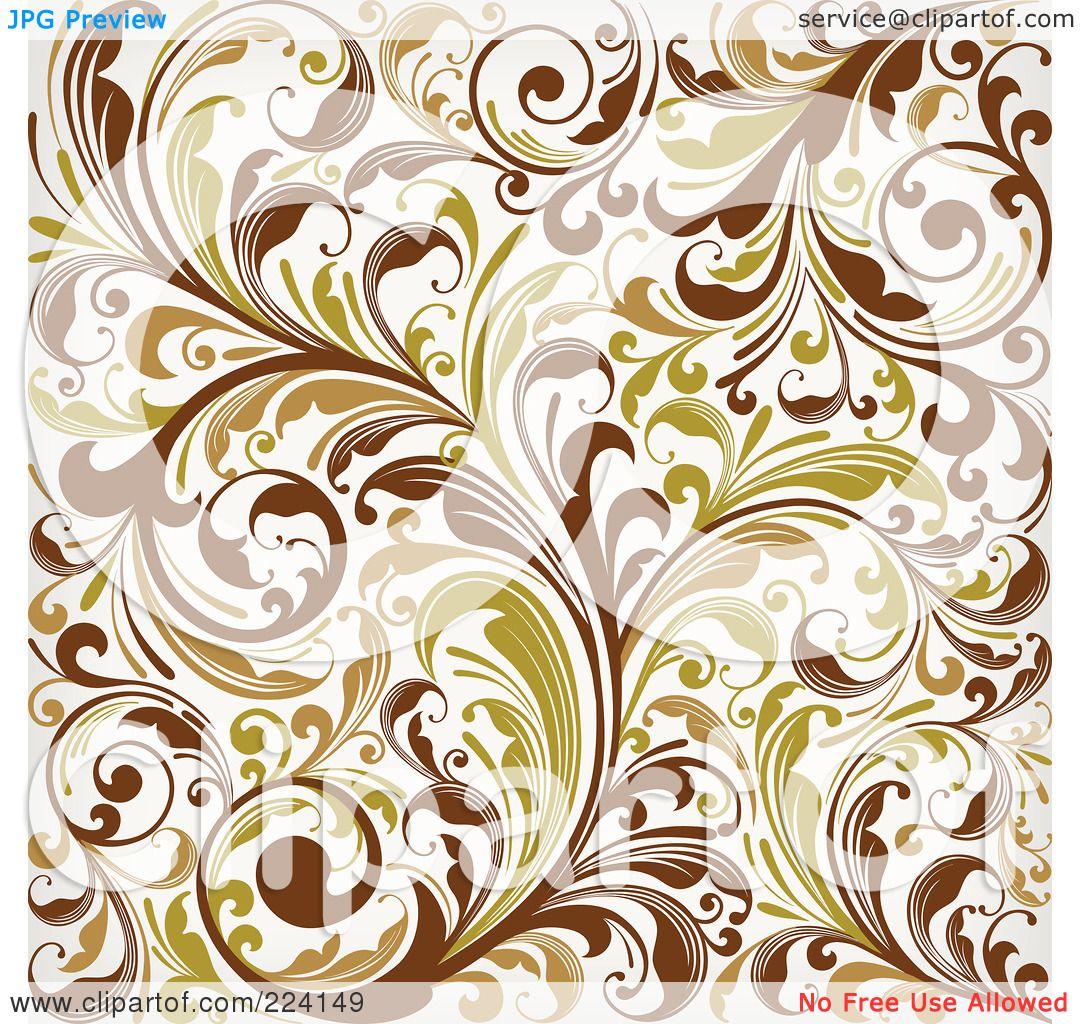 Royalty-Free (RF) Clipart Illustration of a Flourish ...