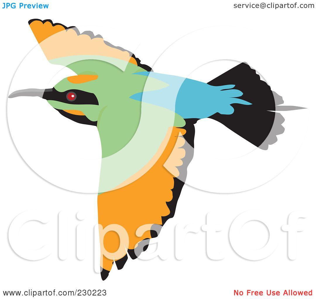Flying Bird Clipart Of a flying bee eater bird