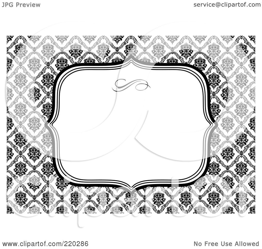 Royalty free rf clipart illustration of a formal black and white royalty free rf clipart illustration of a formal black and white floral invitation border with copyspace 16 by bestvector stopboris Choice Image