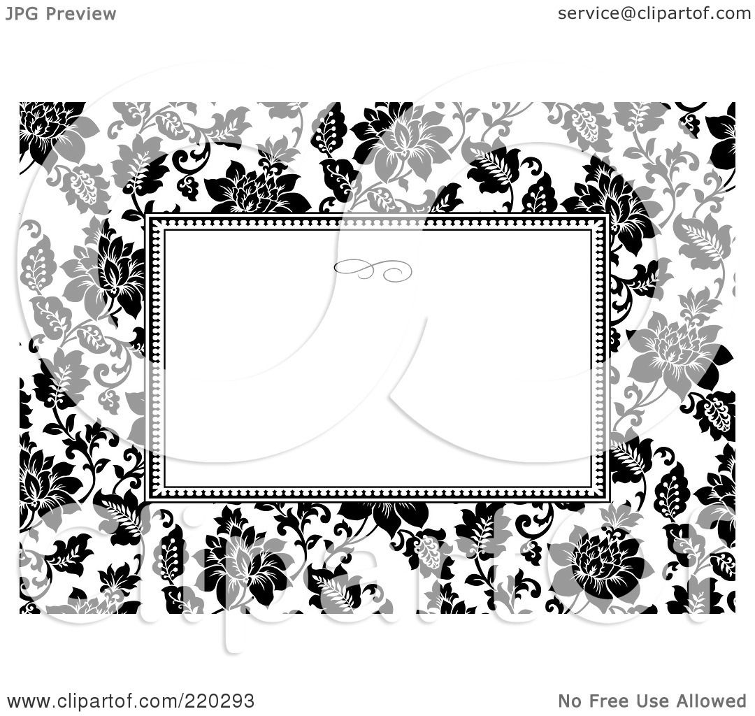 Royalty free rf clipart illustration of a formal black and white royalty free rf clipart illustration of a formal black and white floral invitation border with copyspace 25 by bestvector stopboris Choice Image