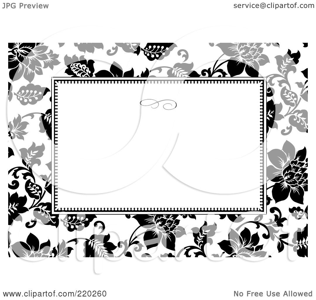Royalty free rf clipart illustration of a formal black and white royalty free rf clipart illustration of a formal black and white floral invitation border with copyspace 26 by bestvector stopboris Choice Image