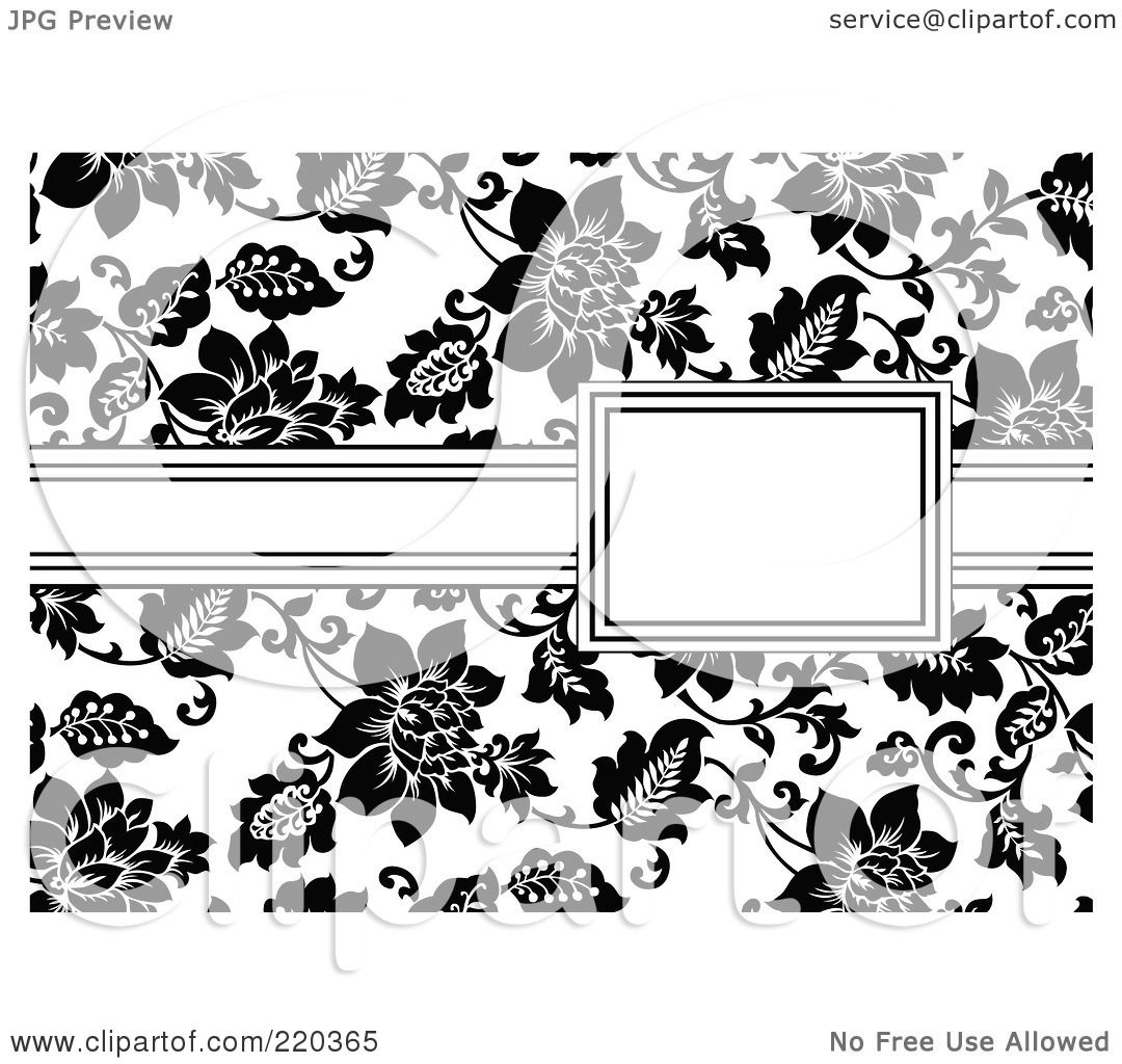 RoyaltyFree RF Clipart Illustration of a Formal Black And White – Free Invitation Clipart