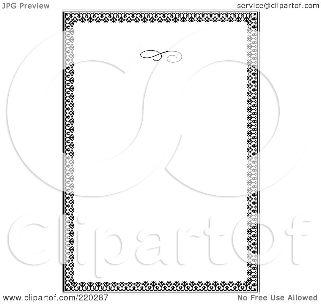 Royalty free rf clipart illustration of a formal floral invitation royalty free rf clipart illustration of a formal floral invitation border with copyspace 11 by bestvector stopboris Gallery