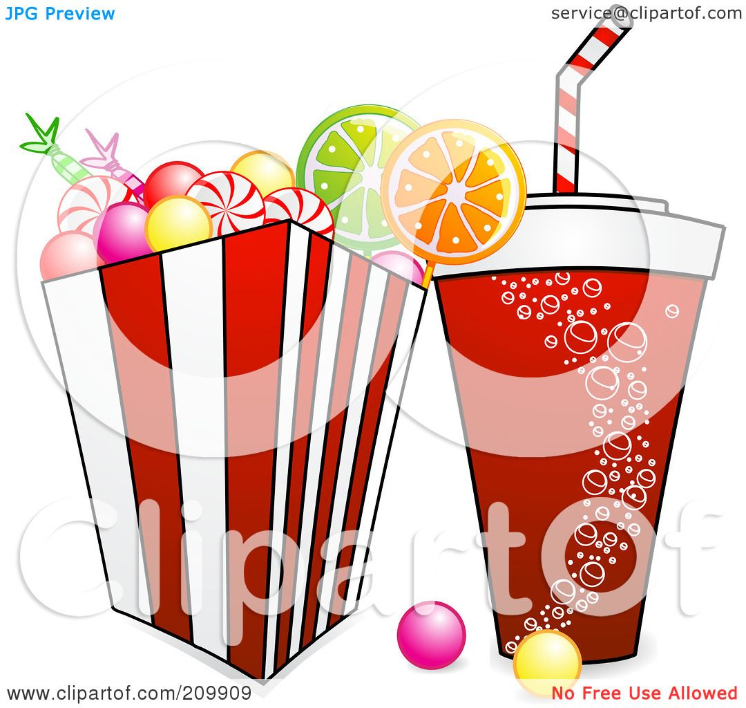 royalty free rf clipart illustration of a fountain soda and bucket rh clipartof com