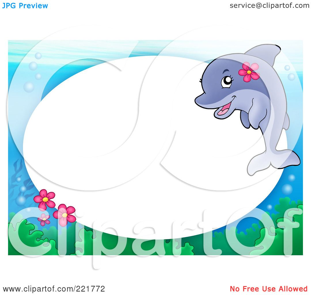 Royalty-Free (RF) Clipart Illustration of a Frame Of A Dolphin ...