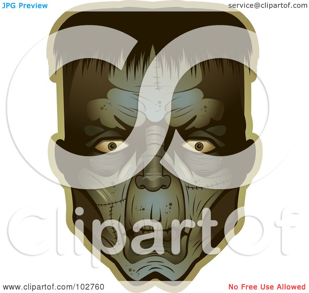 Royalty Free Rf Clipart Illustration Of A Frankenstein