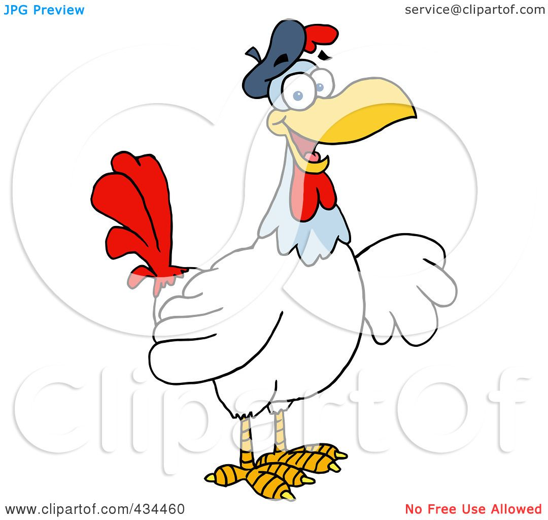 Free French Hen Coloring Pages
