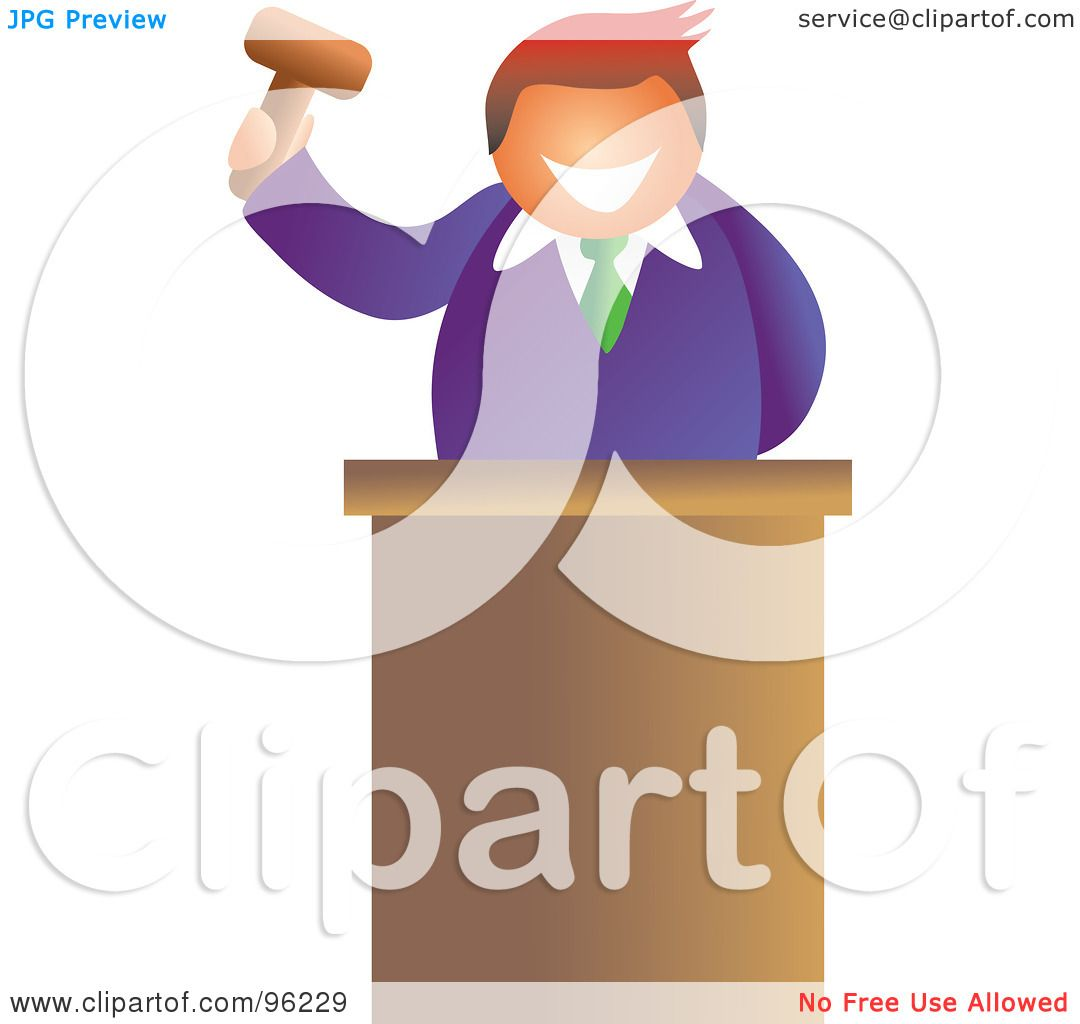 Royalty-Free (RF) Clipart Illustration of a Friendly Auctioneer ...