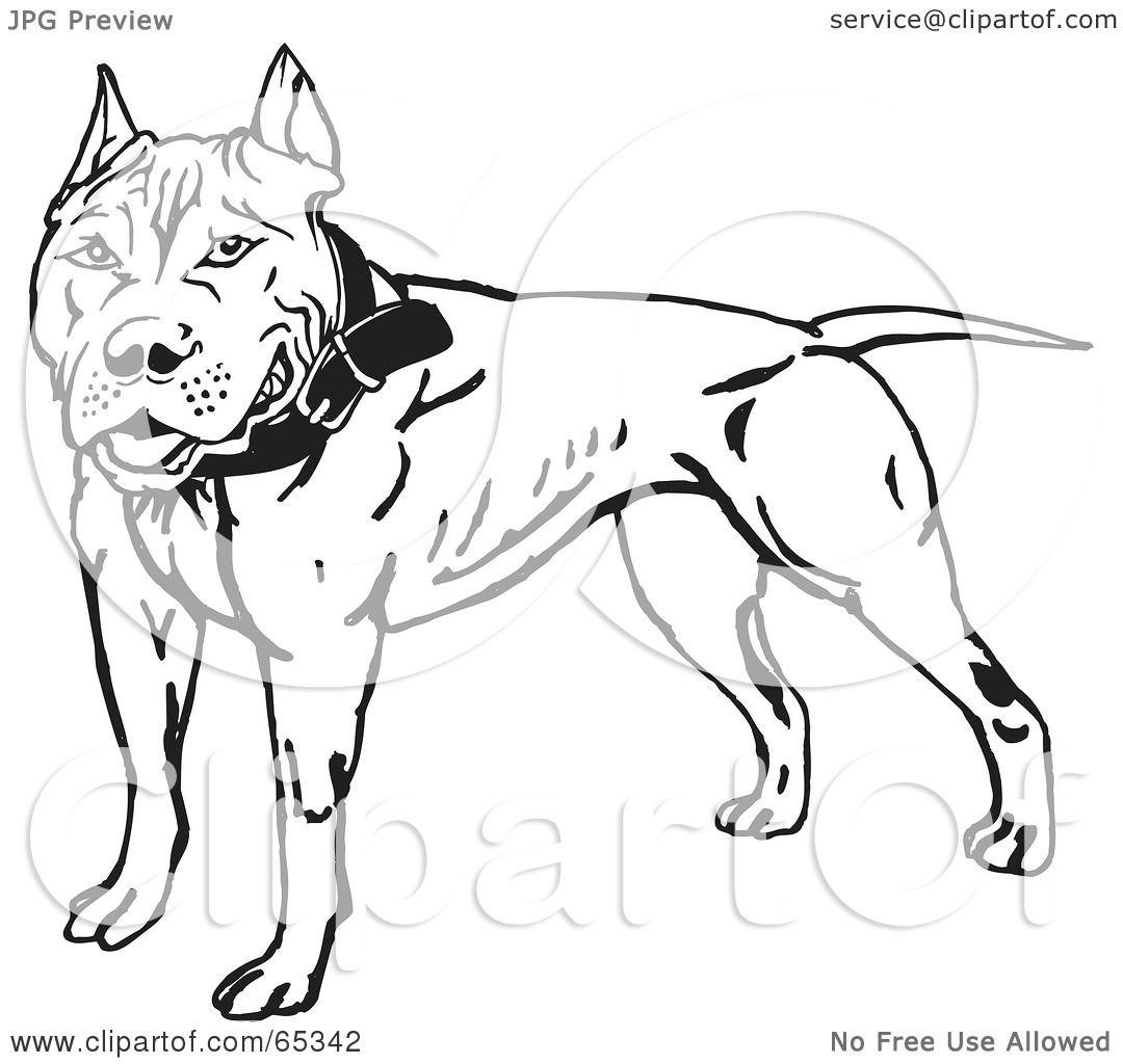 Royalty-Free (RF) Clipart Illustration of a Friendly Black And ...