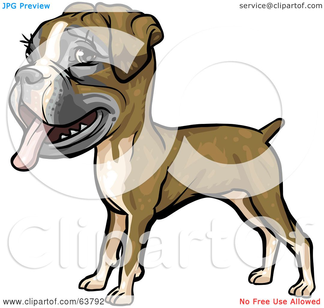 Royalty-Free (RF) Clipart Illustration of a Friendly Boxer Dog by ...