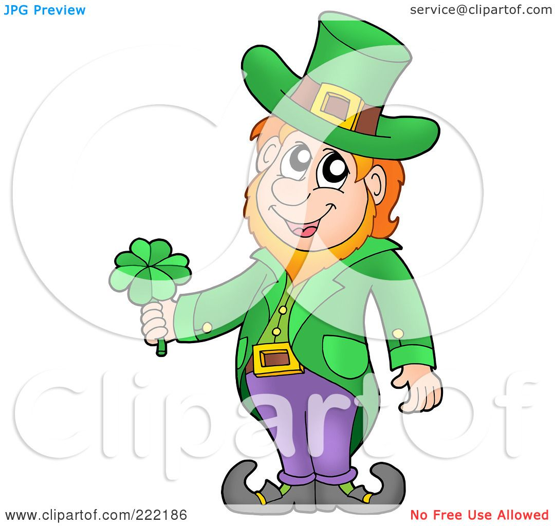 royalty free rf clipart illustration of a friendly leprechaun