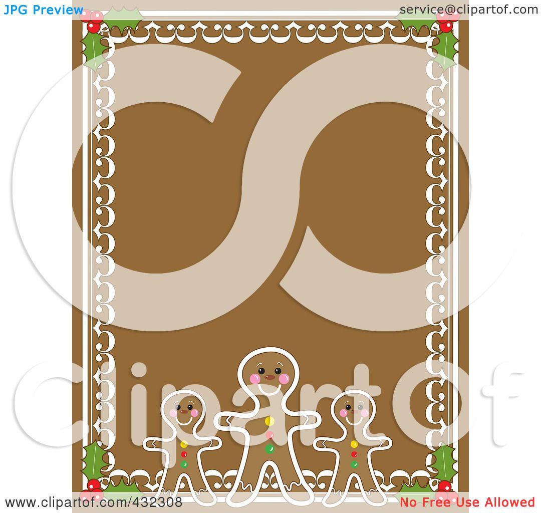 Royalty Free Rf Clipart Illustration Of A Gingerbread