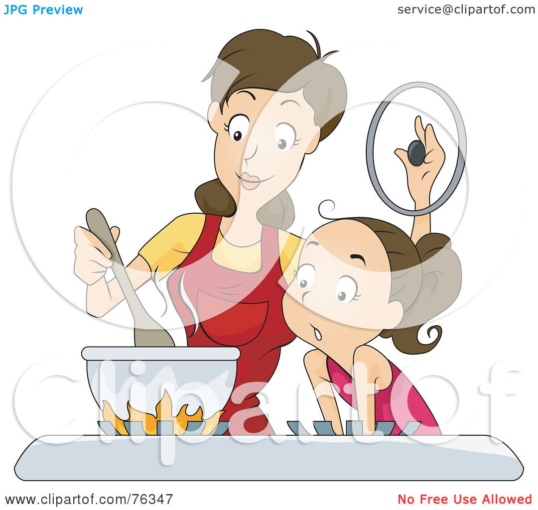Royalty-Free (RF) Clipart Illustration of a Girl And Her