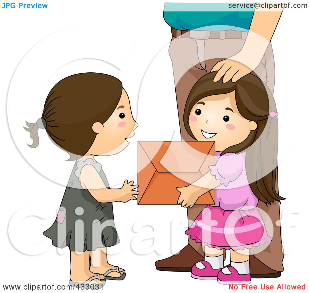 Royalty-Free (RF) Clipart Illustration of a Girl Giving A ...