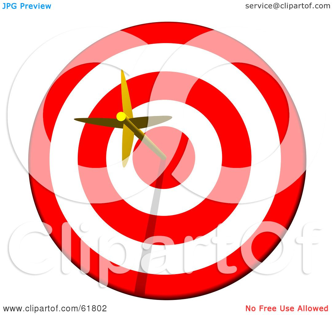 Royalty-free (RF) Clipart Illustration of a Golden Arrow ...