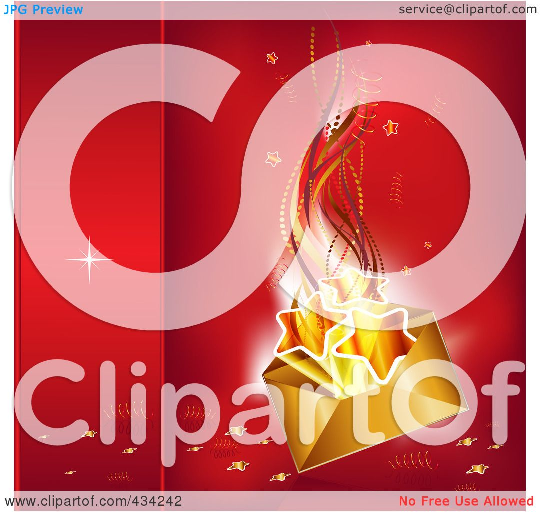 Royalty-Free (RF) Clipart Illustration of a Golden Christmas ...