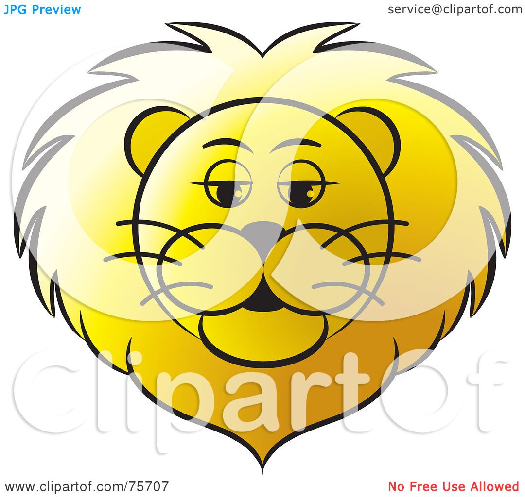 Royalty-Free (RF) Clipart Illustration of a Golden Lion's ...