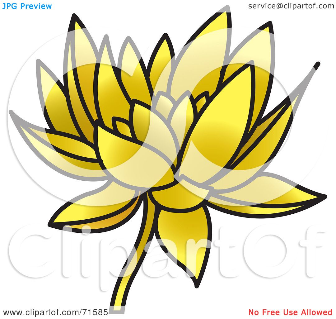 Royalty free rf clipart illustration of a golden lotus flower by royalty free rf clipart illustration of a golden lotus flower by lal perera izmirmasajfo Images