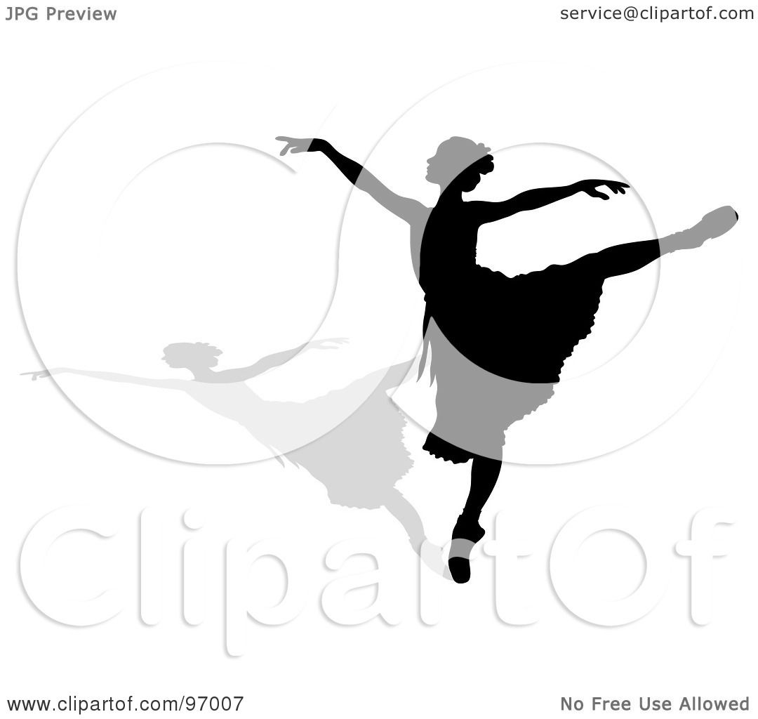 royalty free rf clipart illustration of a graceful black